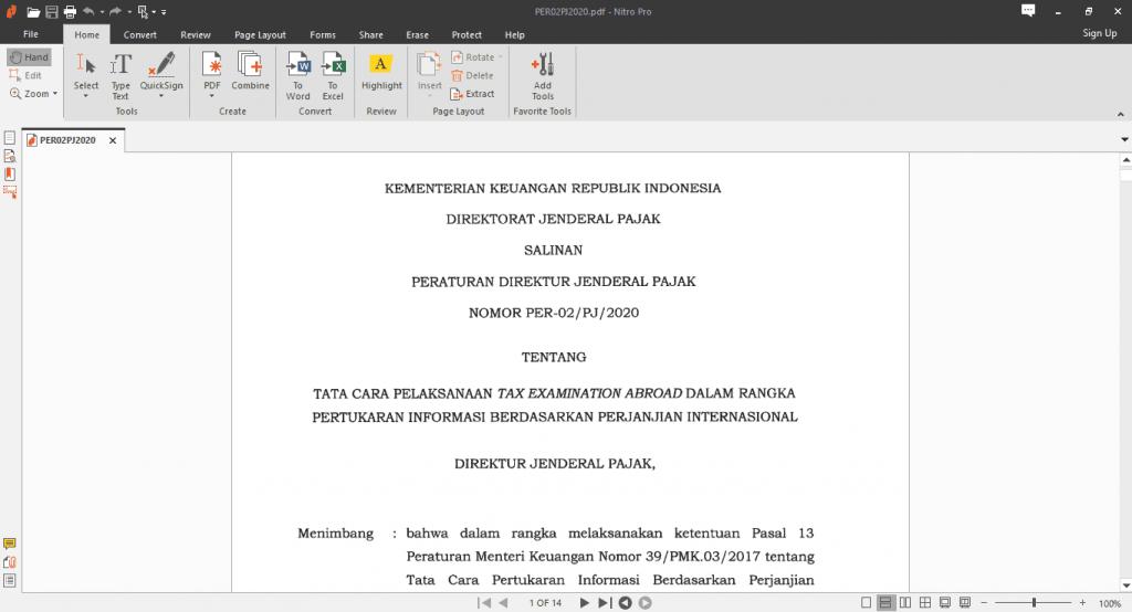 Educipta - Per-02/PJ/2020 Peraturan Direktur Jenderal Pajak Terbaru 2020